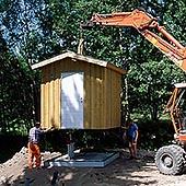 Överbyggnad till Rostfrapumpstationer